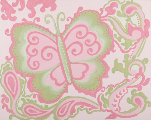 pink sherbet butterfly  CP432-