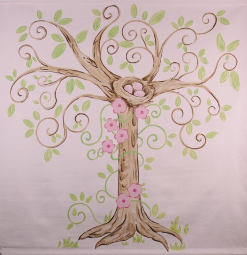 enchanted tree mural  LM02-enchanted tree mural