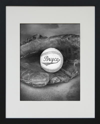 framed baseball art-