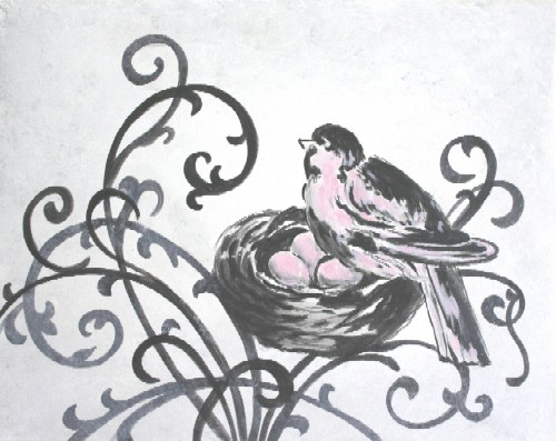 elegant nest with pink  CP225-