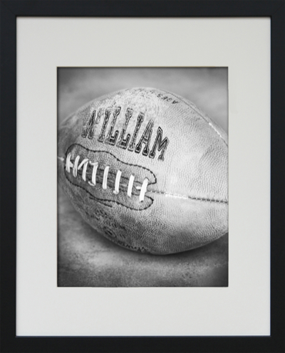 framed football art-
