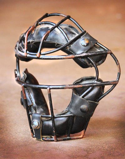 framed catcher's mask wall art-