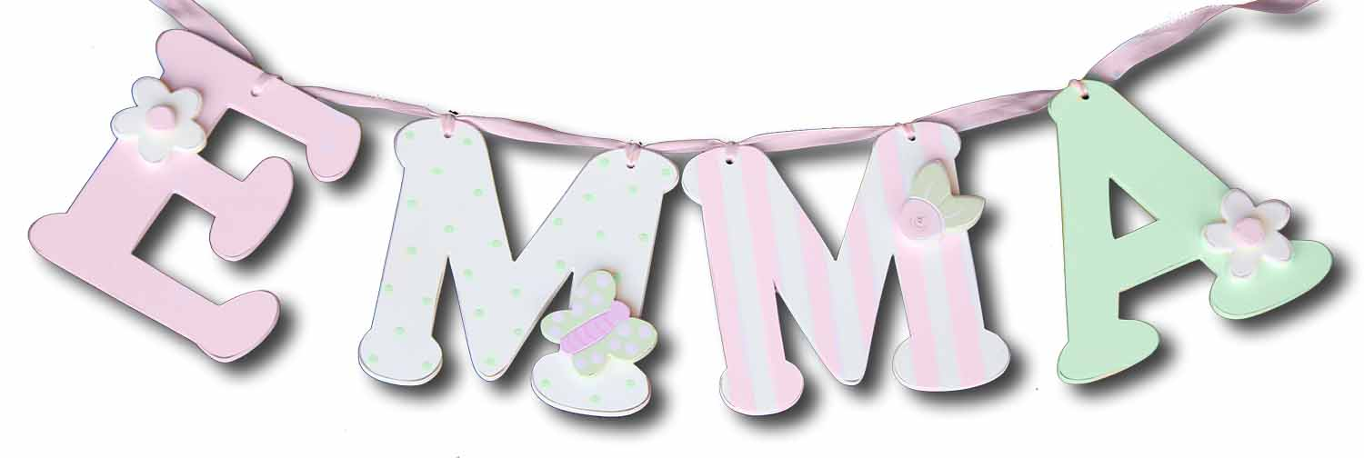Pink and Green Initials-