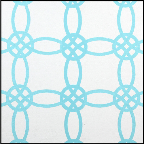 *set of 3 aqua imagination squares-