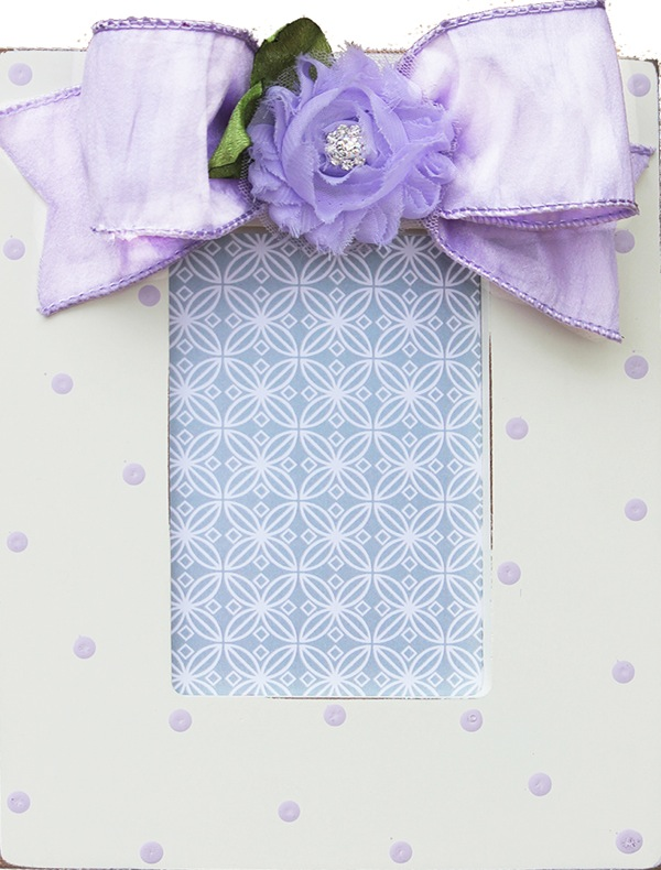 lavender simple dot flower frame 780-E-