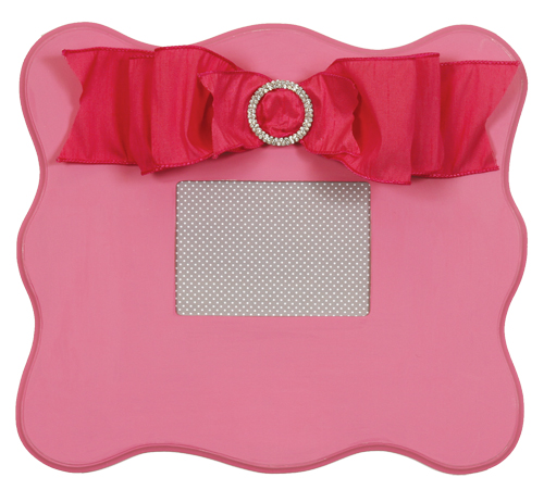 wall frame (candy pink scalloped) 822-CP-