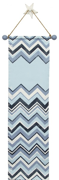 blue chevron growth chart GC839-blue chevron growth chart