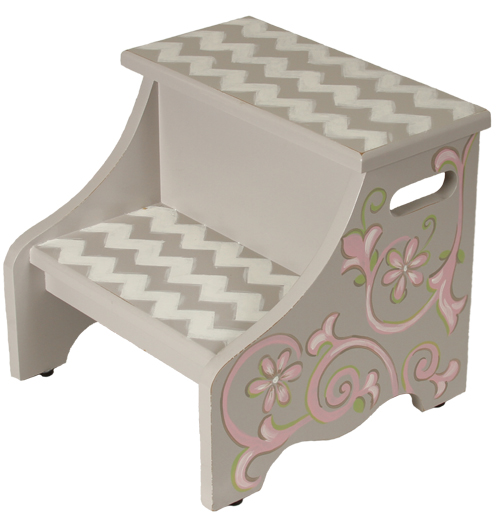 graceful chevron step stool SS140-graceful chevron step stool