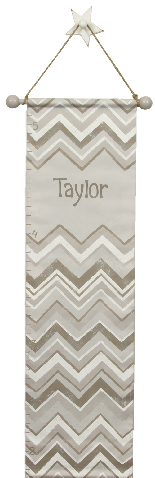 gray chevron growth chart GC837-gray chevron growth chart