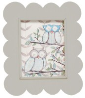 *Gray Scalloped frame FR07-