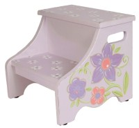 lavender flower step stool-