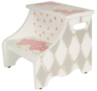 gray rose step stool SS757-