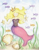 blonde mermaid  G13-