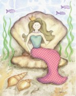 brunette mermaid  G14-