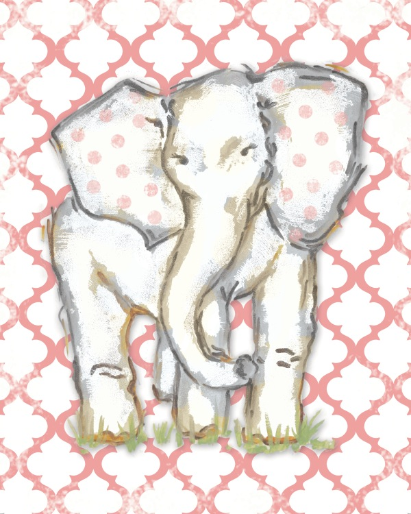 WP140 coral moroccan elephant-