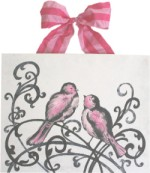 elegant love birds with bright pink  CP220-