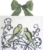elegant love birds with green  CP220-