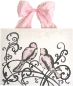 elegant love birds with pink  CP220-