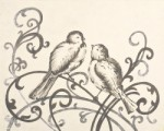 elegant love birds  CP220-