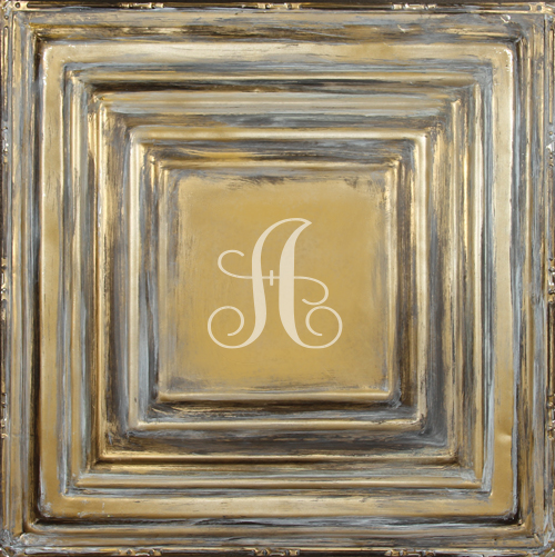 MT02 square metal wall plaque-