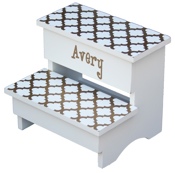 SS834 gold trellis step stool-