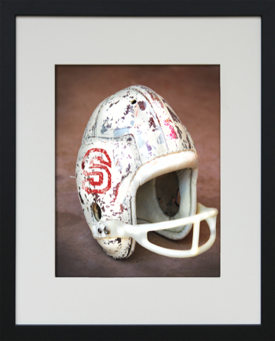 framed football helmet wall art-