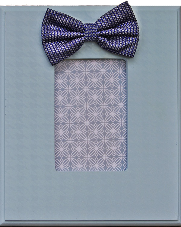 Light Blue Bow Tie Frame 814-B-