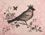 regal bird in black  CP423-