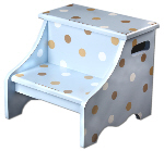 chocolate blue step stool  SS195-step stool