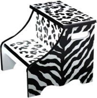 black zebra step stool SS415-
