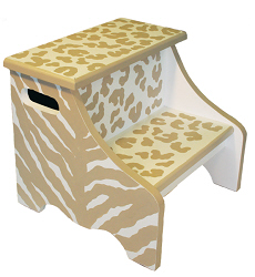 tan safari step stool SS251-
