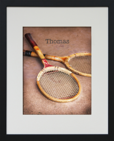 framed tennis art-