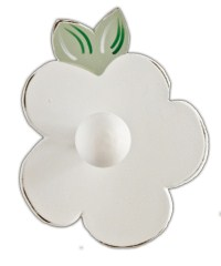 White flower peg HFW-